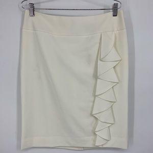 White House Black Market Ruffle Pencil Skirt